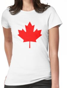 nice t-shirt, eh Womens Fitted T-Shirt