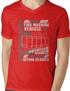 Time Travel Backwards Mens V-Neck T-Shirt