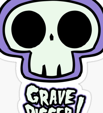 Grave Logo Sticker