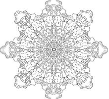 Mandala : Colouring 13 by danita clark