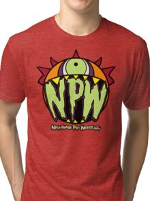 Nightmare Pro Wrestling - Logo  Tri-blend T-Shirt