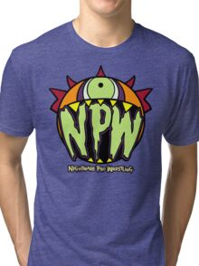 Nightmare Pro Wrestling - Logo  Tri-blend T-Shirt