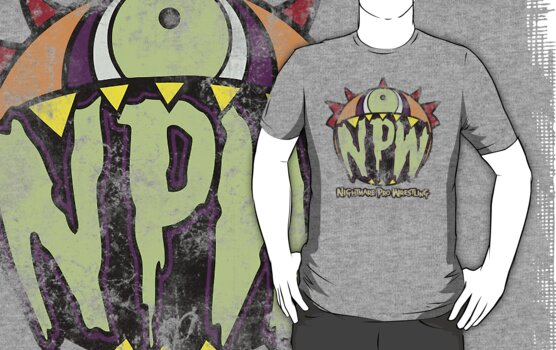 Nightmare Pro Wrestling - Vintage Tee by Jon David Guerra