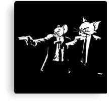 Vincent Mouse & Jules Cat Canvas Print