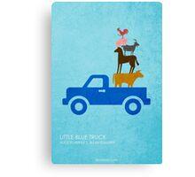 Little Blue Truck Canvas Print