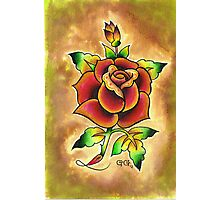 Tattoo Rose Watercolor #1 Photographic Print