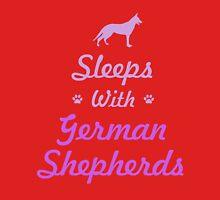 Sleeps With German Shepherds T-Shirt