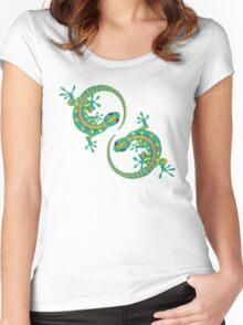 Daco Lizard Art T-Shirt Women's Fitted Scoop T-Shirt