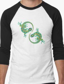 Daco Lizard Art T-Shirt Men's Baseball ¾ T-Shirt