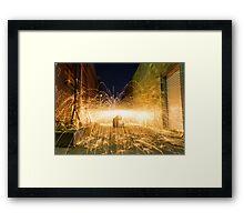 Lightshow Framed Print
