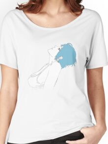 Blue Haired Girl Women's Relaxed Fit T-Shirt