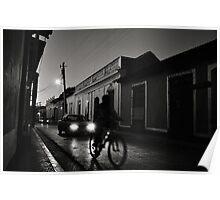 Night Rider in Trinidad de Cuba Poster