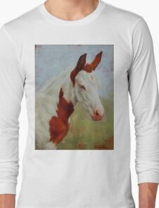 Pretty Baby-Paint Foal Portrait Long Sleeve T-Shirt