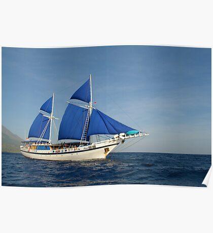 Palau Siren off Sangeang Island, Indonesia Poster