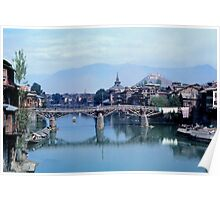 Srinigar Bridge over Jhelum  River Poster