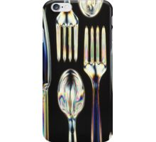 Plastic Knives, Forks and Spoons Arranged In A Pattern iPhone Case/Skin