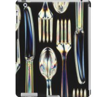 Plastic Knives, Forks and Spoons Arranged In A Pattern iPad Case/Skin