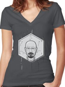 Door Knocker Women's Fitted V-Neck T-Shirt
