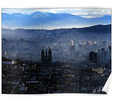 Quito from Panicello Hill Poster