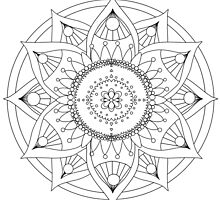 Mandala : Colouring 10 by danita clark