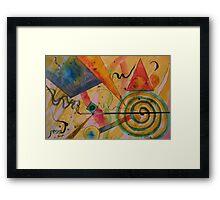 The Kandinsky Swirl Framed Print