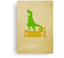 How Do Dinosaurs Say Goodnight Canvas Print