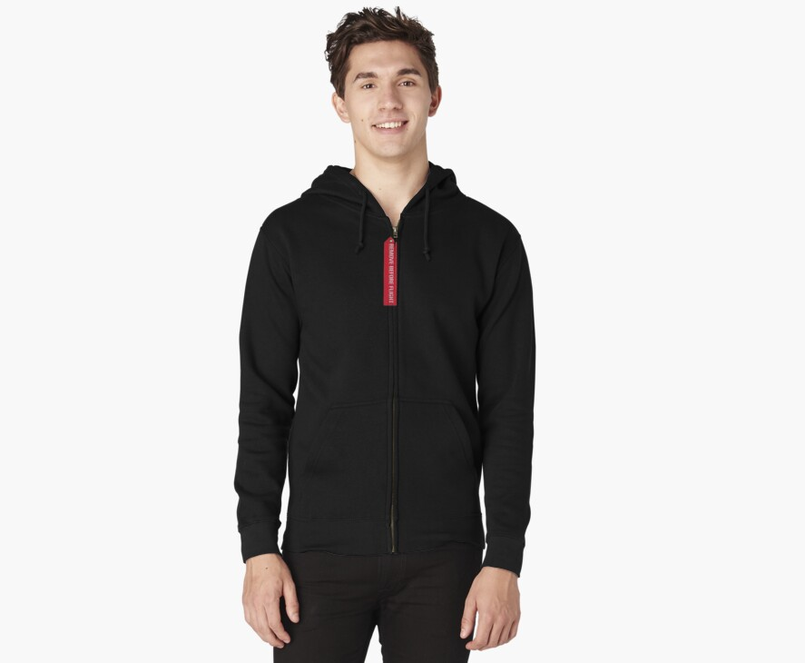 Remove before flight Kids hoodie by Matt to the Value of K