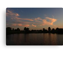 Another Lisle, IL Sunset Canvas Print