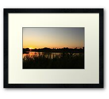 A Beautiful Sunset Framed Print