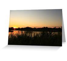 A Beautiful Sunset Greeting Card