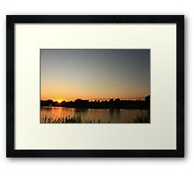 Sunset with a Bridge Framed Print
