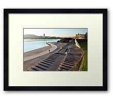 Early morning jogger, Parkes Place Framed Print