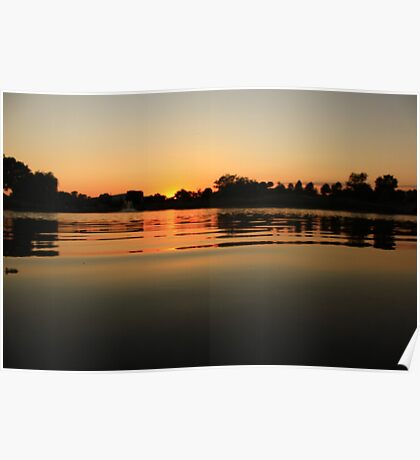 Oil Slick Sunset Poster