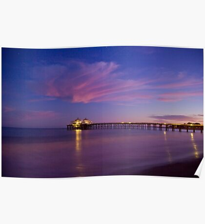 Malibu Pier at Blue Hour Poster