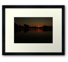 Another Lisle, IL Sunset Framed Print