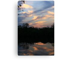 Hidden Mirror Lake, Lisle, IL Canvas Print