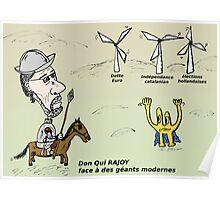 Mario RAJOY en caricature comme Don Quichotte Poster