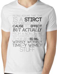 Time (Doctor Who) Mens V-Neck T-Shirt