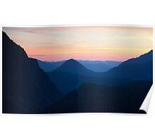 Sunset at Mount Rainier National Park Poster