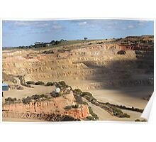 The Pit!!  Mining Dolomite Ardrossan Poster