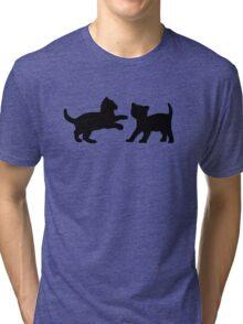 Kittens Playing Tri-blend T-Shirt