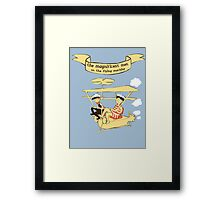 Greetings from the sky Framed Print