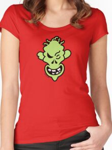 Naughty Halloween Zombie Women's Fitted Scoop T-Shirt