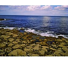 The Giant's Causeway and the Sea Photographic Print