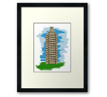 spray can tower block  Framed Print