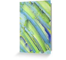 Watercolor Hand Painted Abstract Green Bamboo Texture Greeting Card