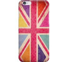 Pink Grunge Union Flag iPhone Case/Skin