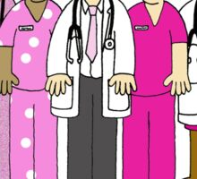 Thank you to breast cancer team, nurses and Doctors Sticker
