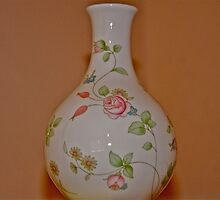 Vase  with  rose  pattern by Jane  mcainsh