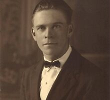 My handsome grandfather, age 21, 1923 by Jane Neill-Hancock